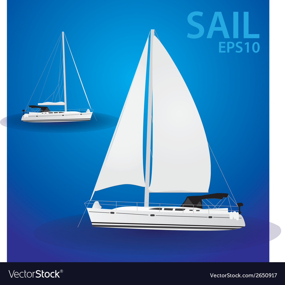 Sailing boat eps10 vector | Price: 1 Credit (USD $1)