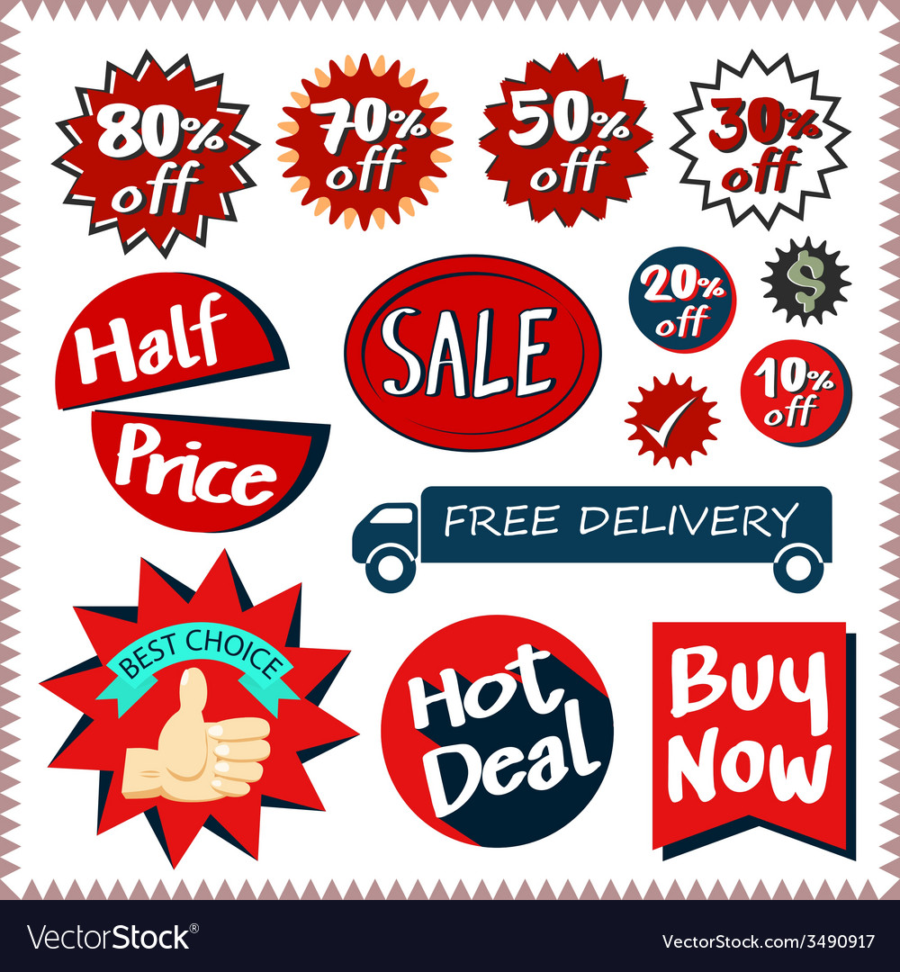 Sale tags banners set design concept vector   Price: 1 Credit (USD $1)