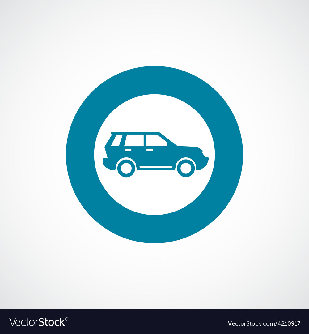 Suv icon bold blue circle border vector | Price: 1 Credit (USD $1)