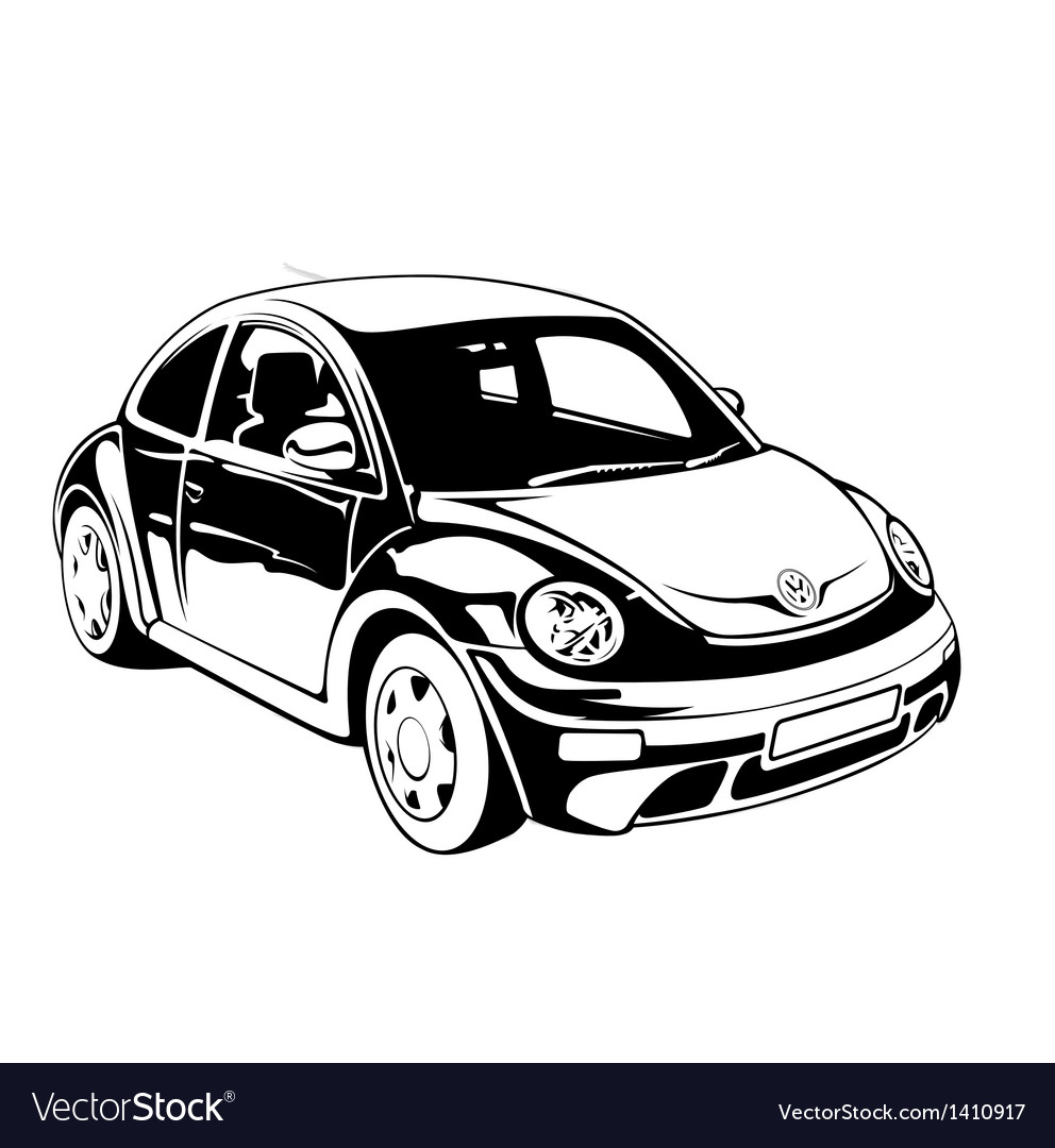 Vw beetle vector | Price: 1 Credit (USD $1)