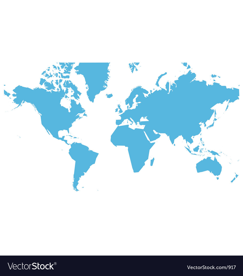 World map flat vector | Price: 1 Credit (USD $1)
