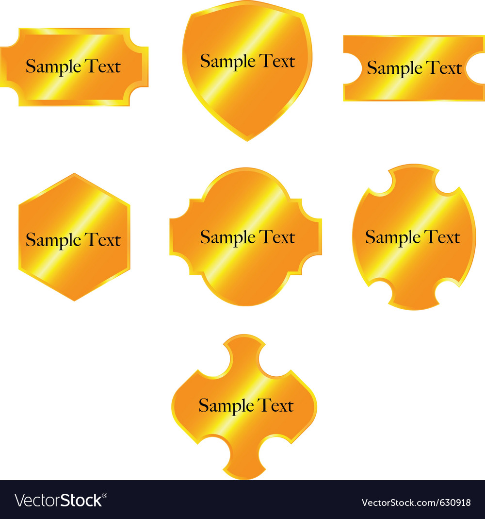 7 shiny golden badges vector   Price: 1 Credit (USD $1)