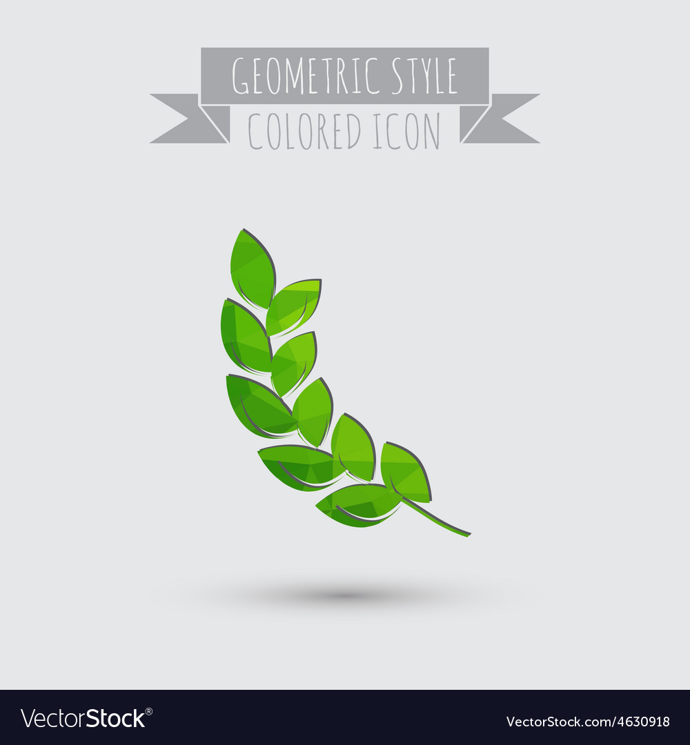 Abstract wheat spike ears icon vector | Price: 1 Credit (USD $1)