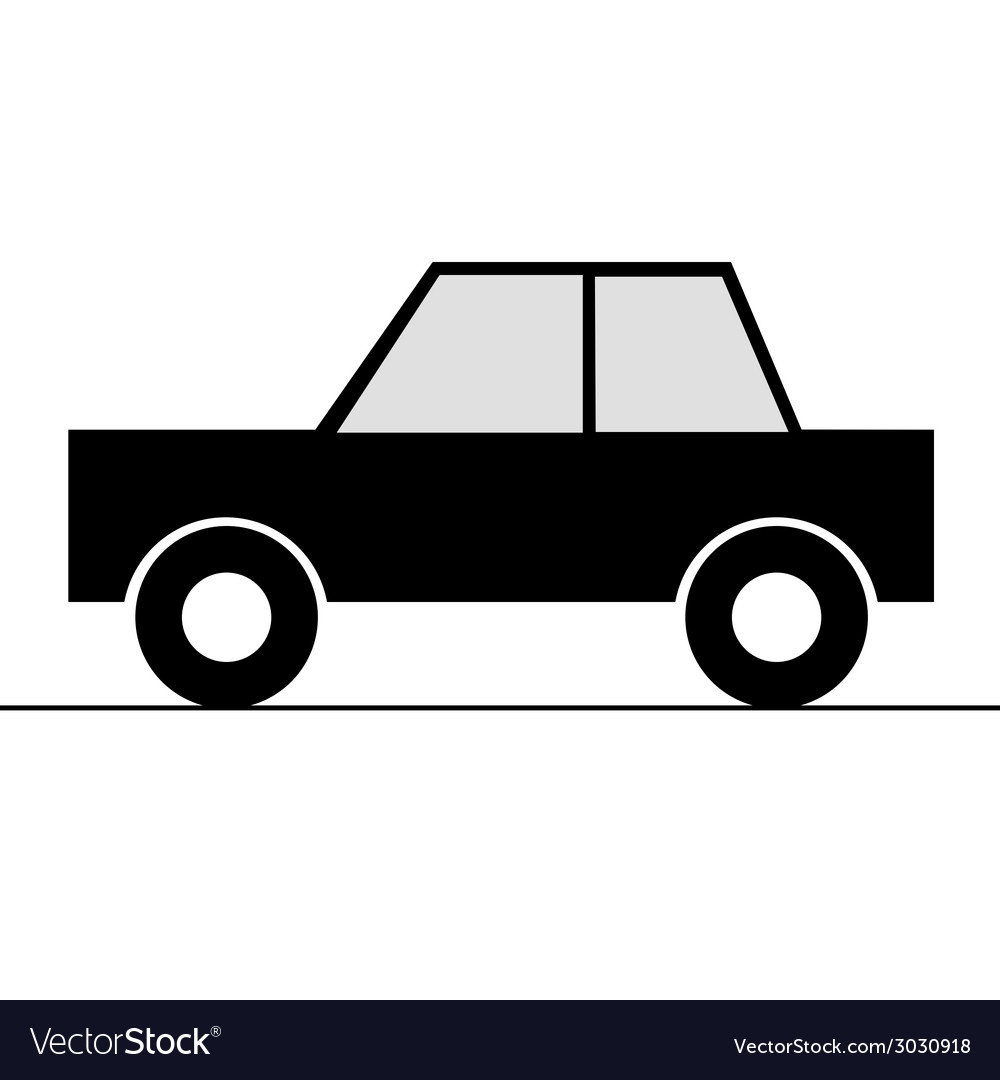 Car simple art for symbol vector | Price: 1 Credit (USD $1)