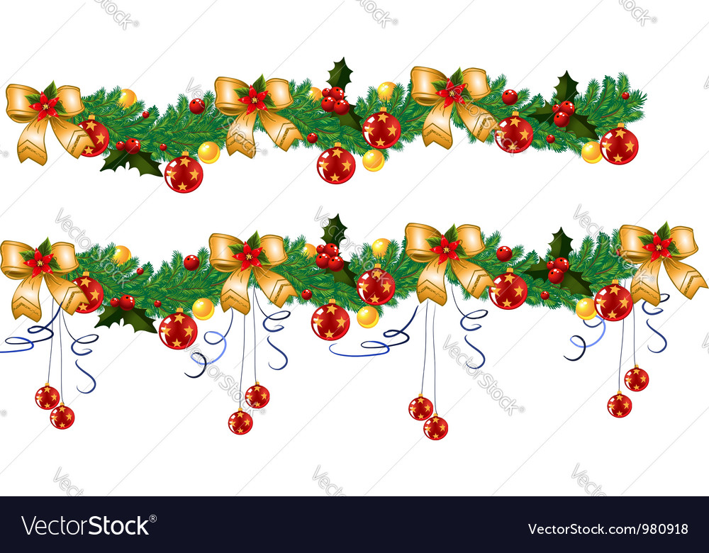 Christmas garland vector   Price: 3 Credit (USD $3)