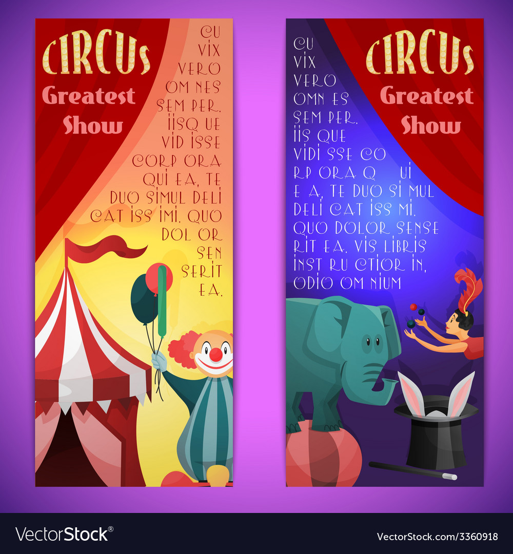 Circus banner vertical vector | Price: 1 Credit (USD $1)