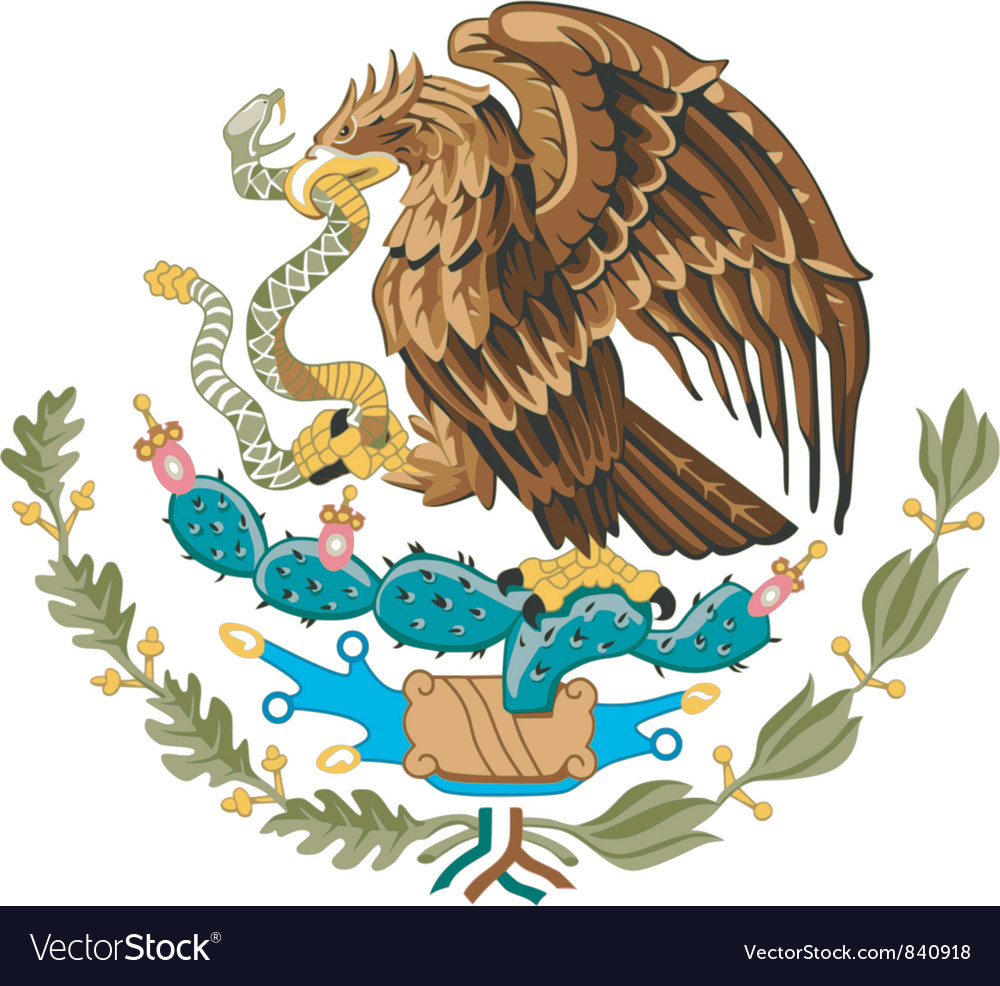 Coat of arms of mexico vector | Price: 3 Credit (USD $3)