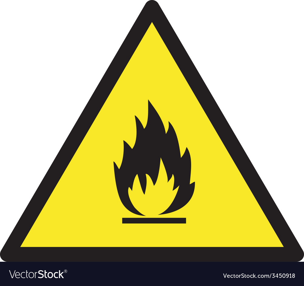 Danger flamable safety sign vector | Price: 1 Credit (USD $1)