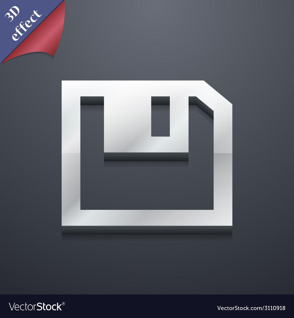 Floppy icon symbol 3d style trendy modern design vector | Price: 1 Credit (USD $1)
