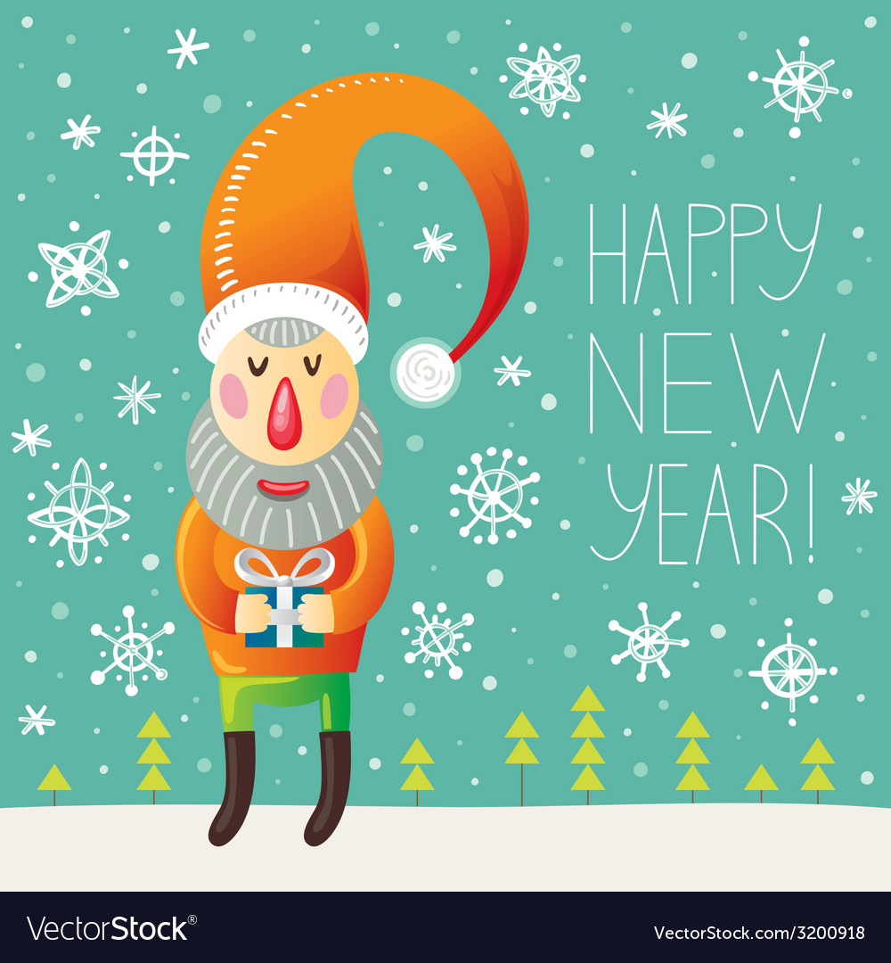 Happy new year greeting vector | Price: 1 Credit (USD $1)