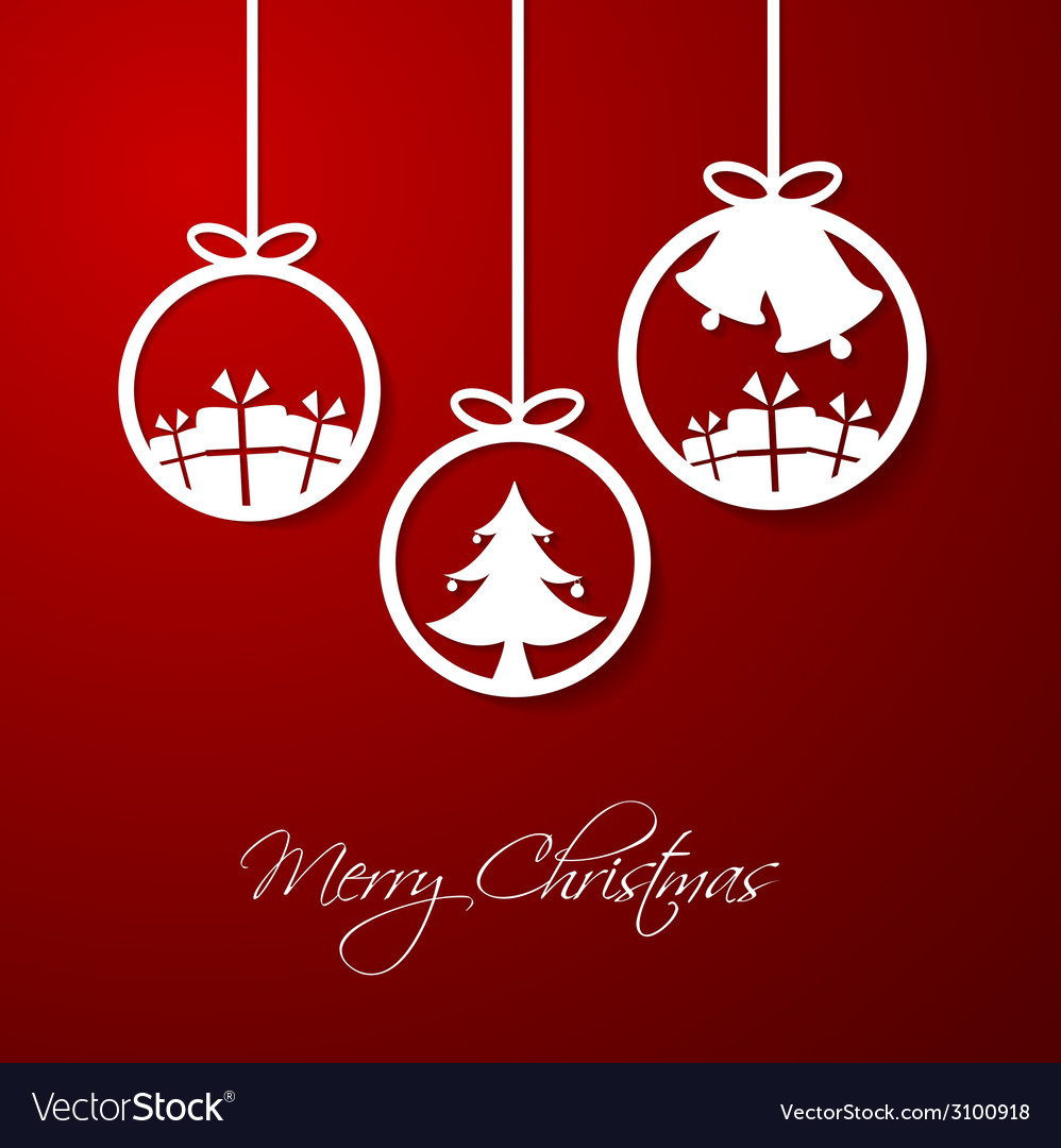 Merry christmas hanging decorative ball vector | Price: 1 Credit (USD $1)