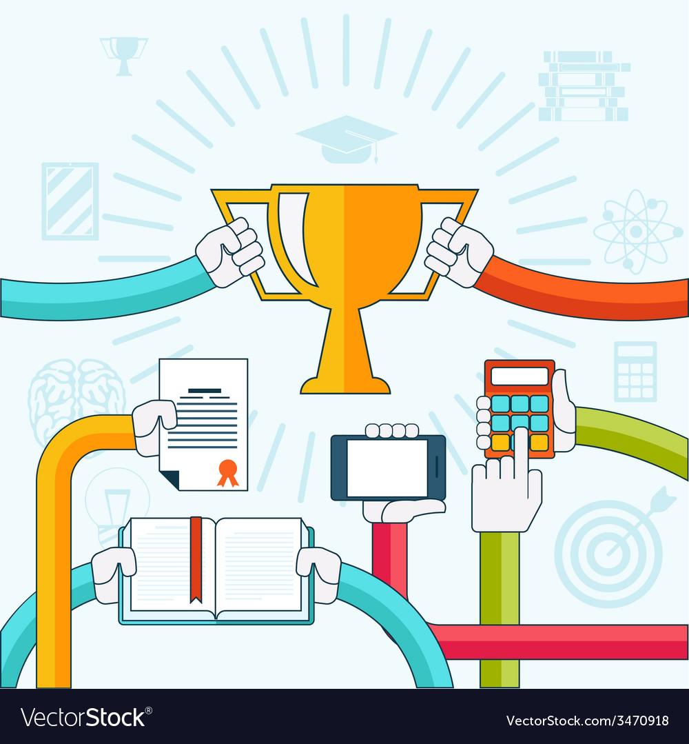 Online education personal development concept vector   Price: 1 Credit (USD $1)