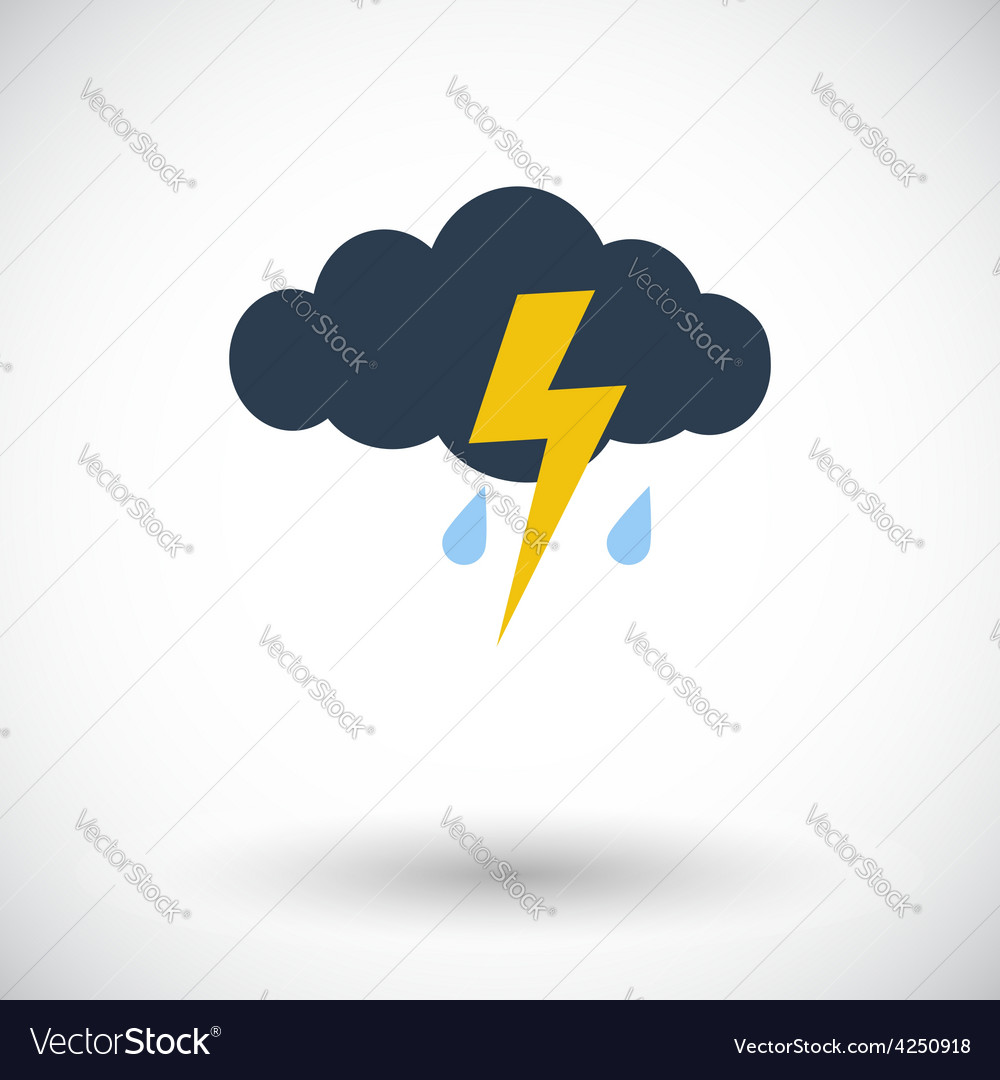 Storm flat icon vector | Price: 1 Credit (USD $1)