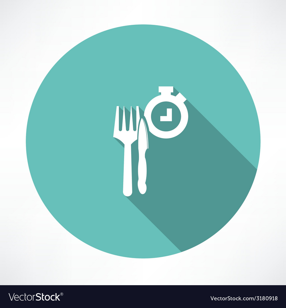 Time to eat icon vector | Price: 1 Credit (USD $1)