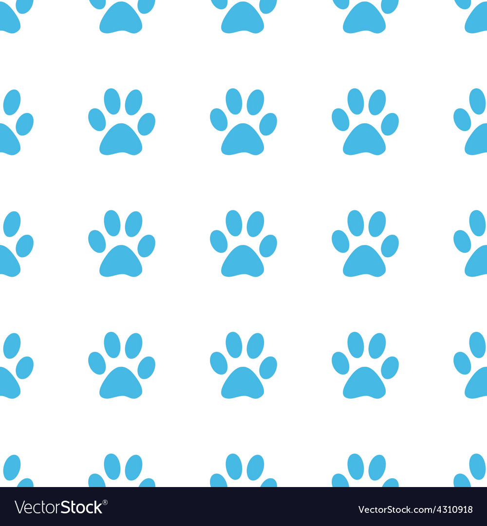 Unique paw seamless pattern vector | Price: 1 Credit (USD $1)