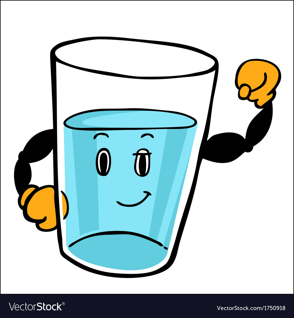 Water glass character vector | Price: 1 Credit (USD $1)