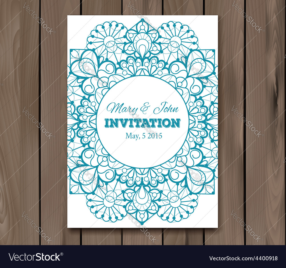 Wedding invitation card template vector | Price: 1 Credit (USD $1)
