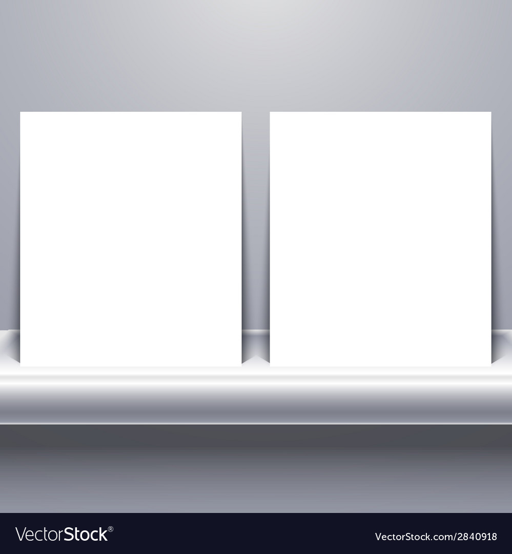 White blank tablet on shelf vector | Price: 1 Credit (USD $1)