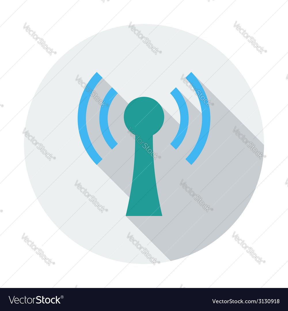 Wireless single flat icon vector   Price: 1 Credit (USD $1)