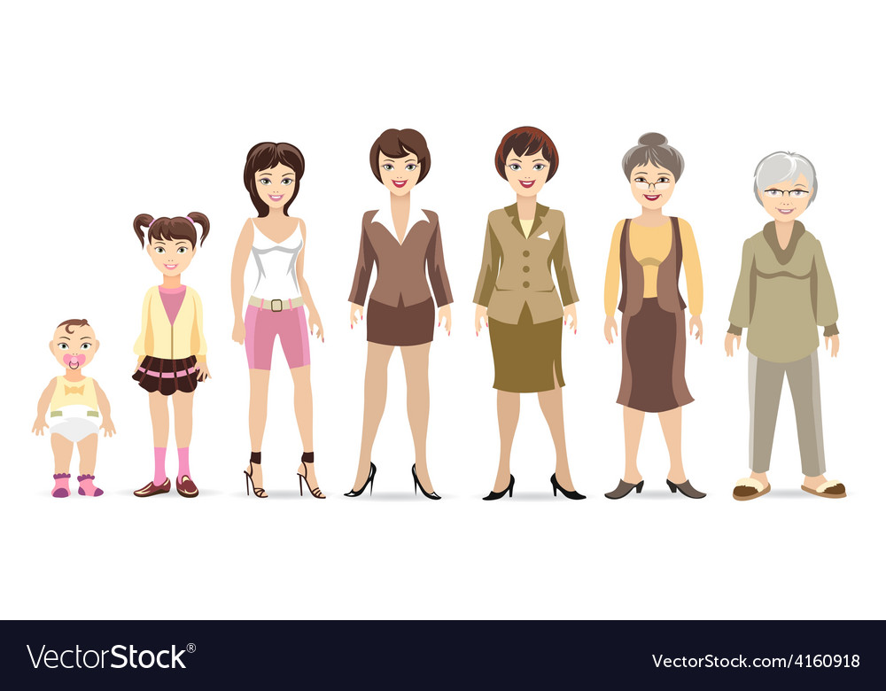 Woman generations vector | Price: 1 Credit (USD $1)