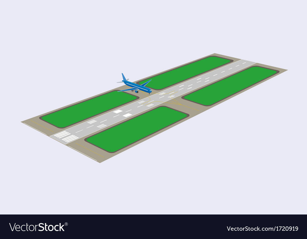 Airport runway vector | Price: 1 Credit (USD $1)