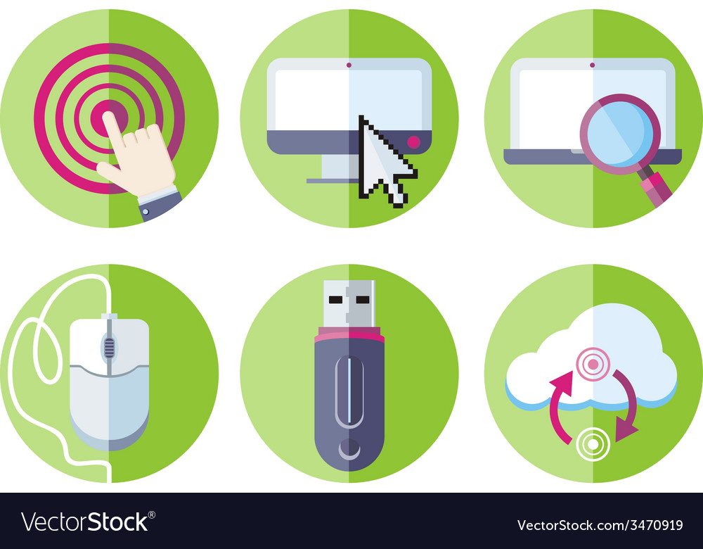 Information resource devices icon set vector | Price: 1 Credit (USD $1)