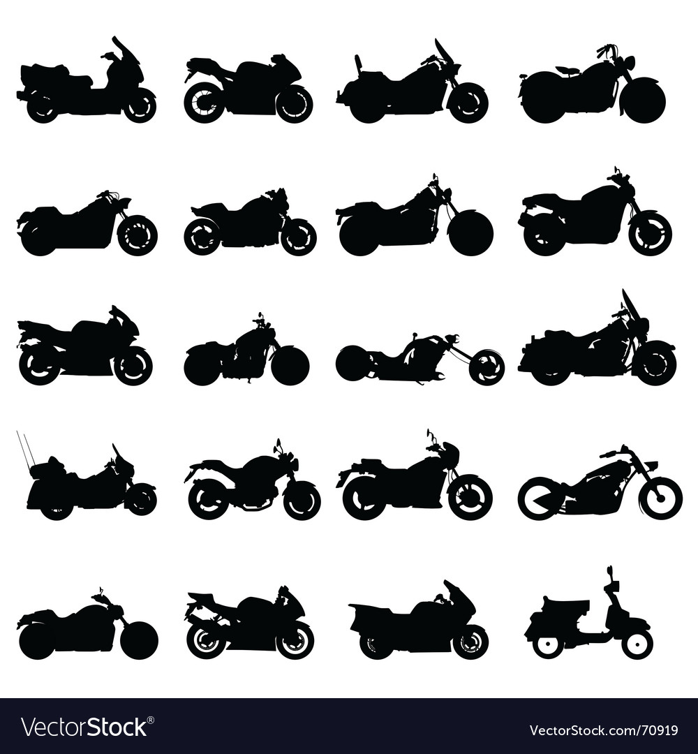 Motorcycles vector | Price: 1 Credit (USD $1)