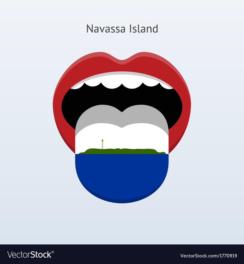 Navassa island language abstract human tongue vector | Price: 1 Credit (USD $1)