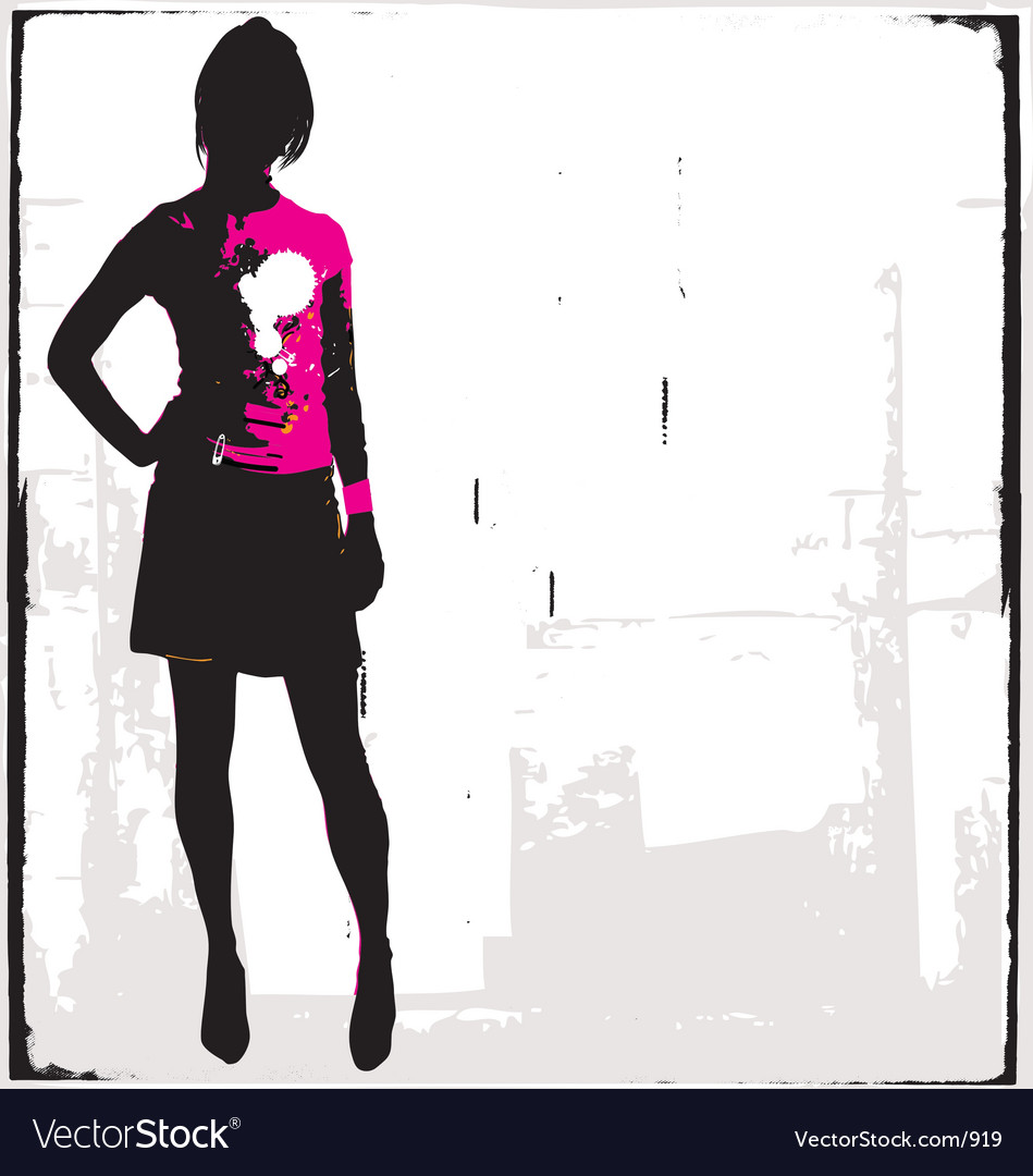 Punk rock girl vector | Price: 1 Credit (USD $1)