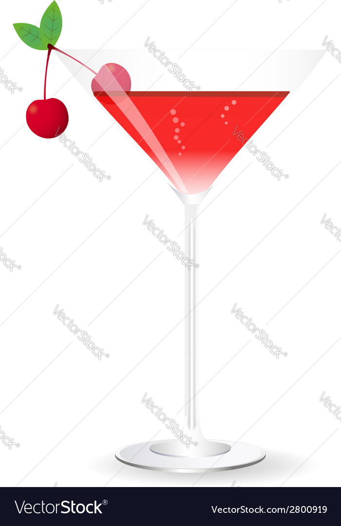 Red cocktail vector | Price: 1 Credit (USD $1)