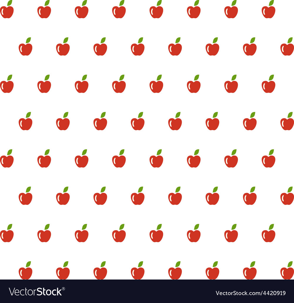 Sample seamless apple background vector | Price: 1 Credit (USD $1)
