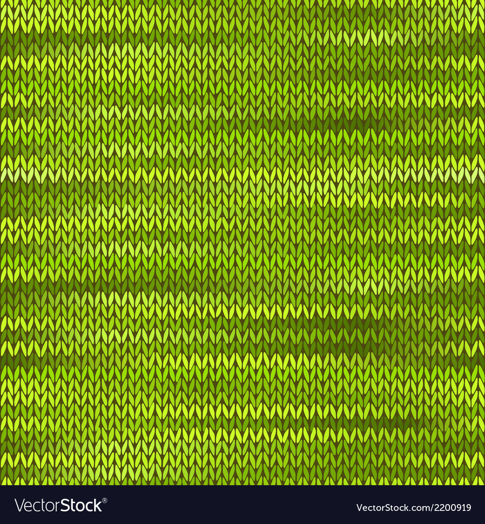 Style seamless knitted melange pattern green color vector | Price: 1 Credit (USD $1)