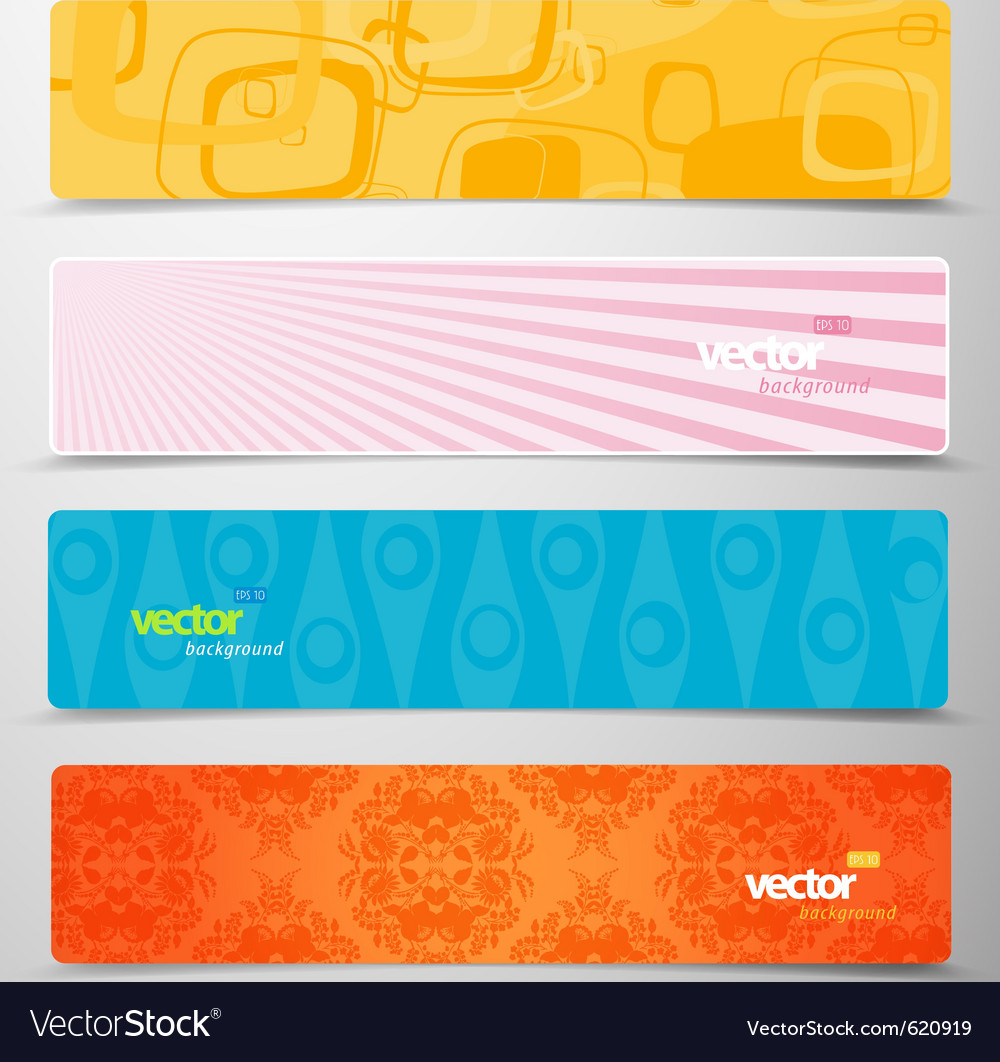 Web headers vector | Price: 1 Credit (USD $1)