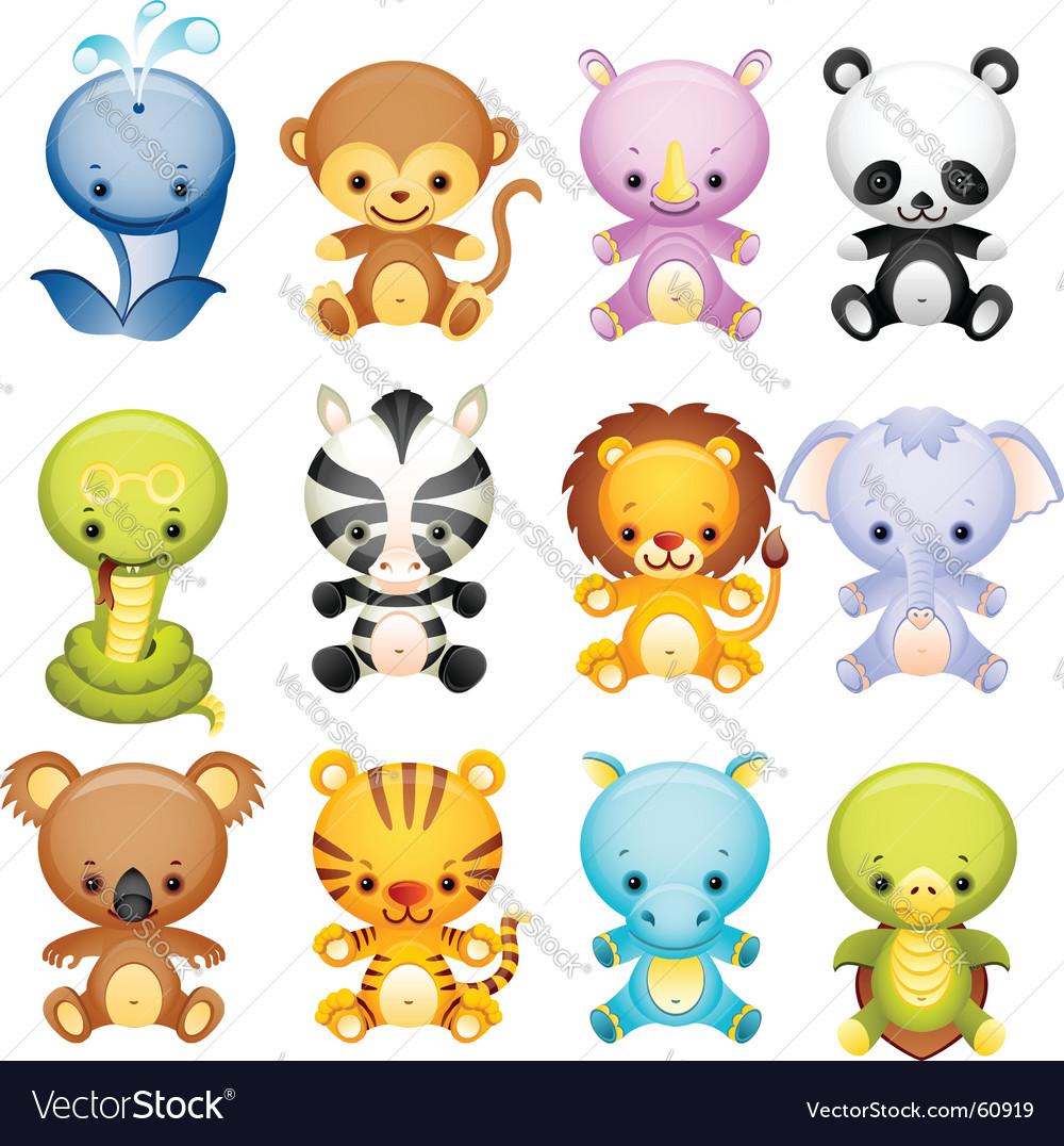 Wild animals vector | Price: 5 Credit (USD $5)