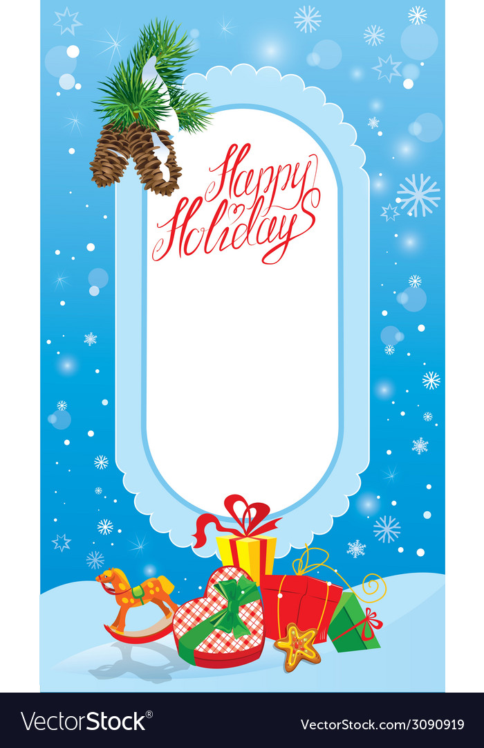 Xmas vert card 1 380 vector | Price: 1 Credit (USD $1)