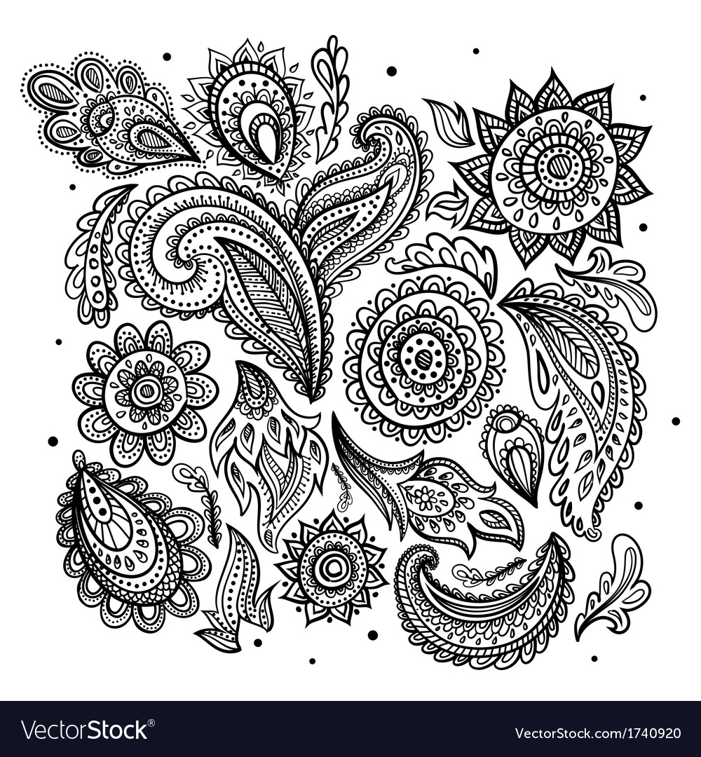 Beautiful vintage floral ornament vector   Price: 1 Credit (USD $1)