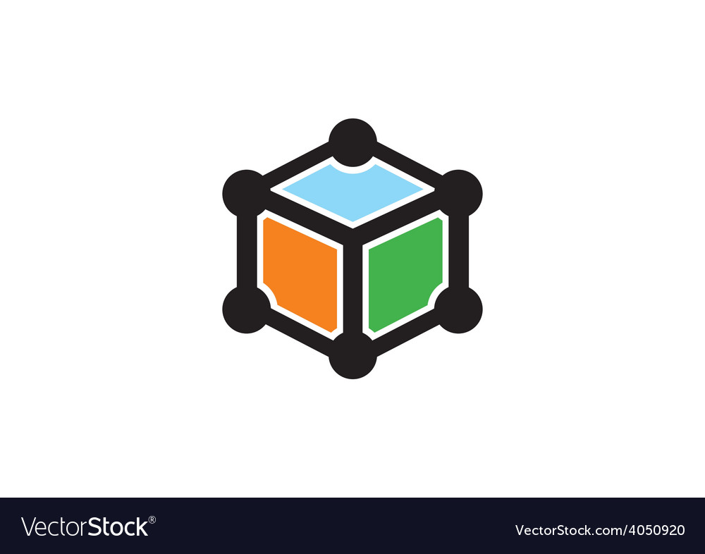 Box cube data technology logo vector | Price: 1 Credit (USD $1)