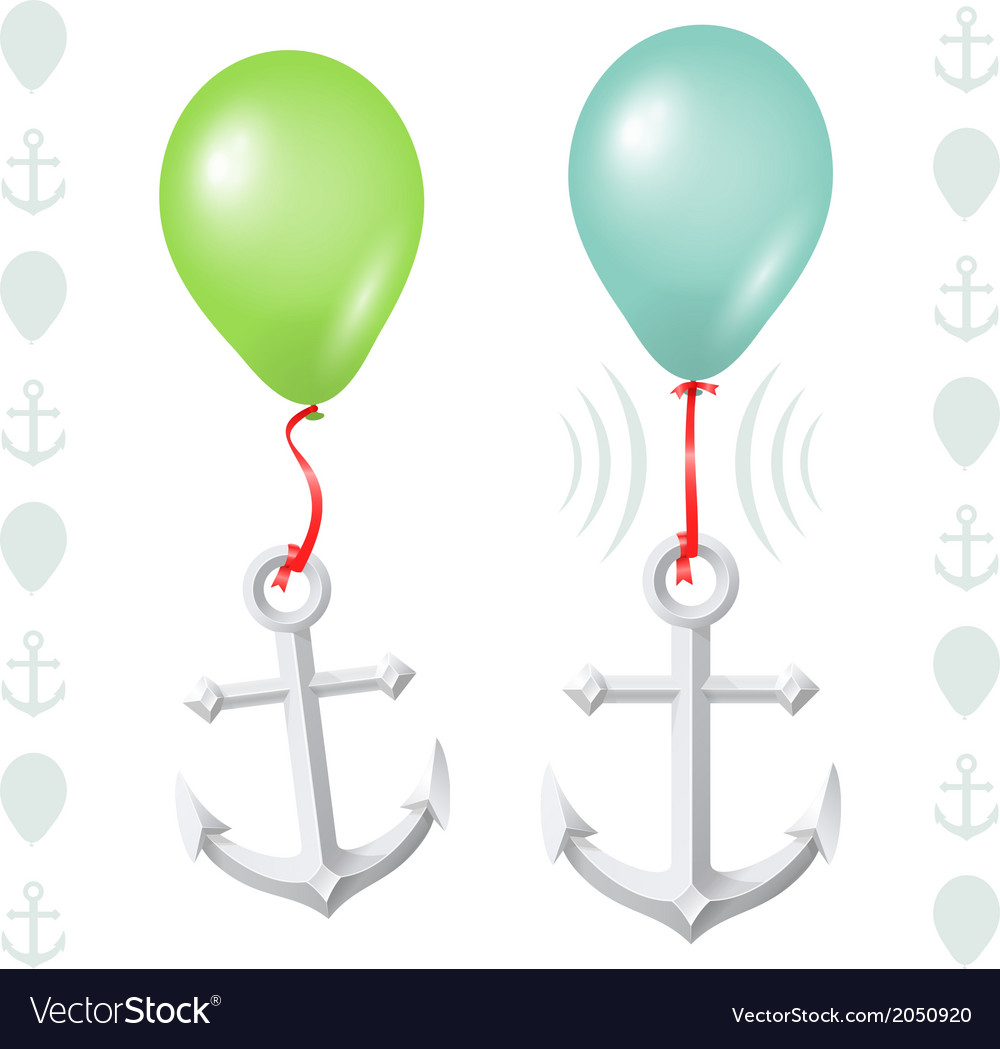 Conceptual balance between balloon and anchor vector | Price: 1 Credit (USD $1)