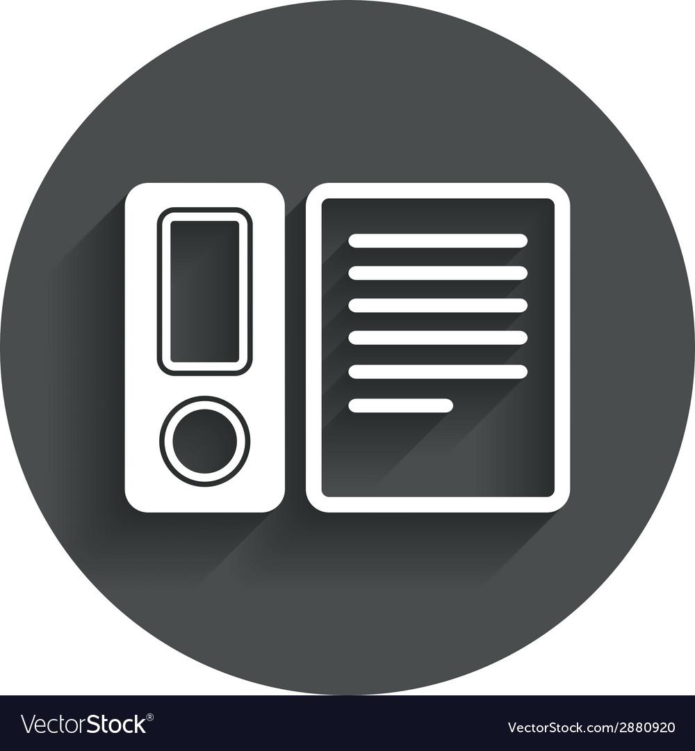 Document folder sign accounting binder symbol vector   Price: 1 Credit (USD $1)