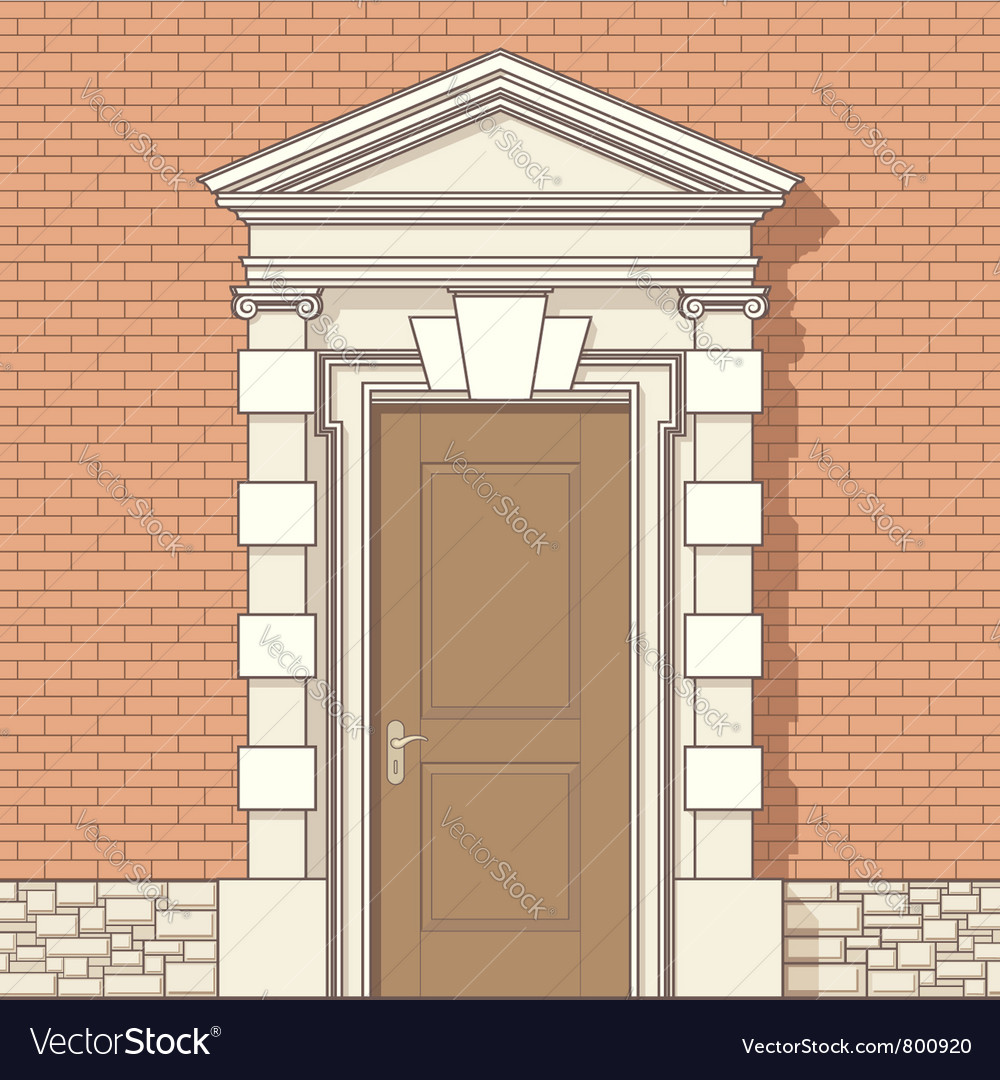 Entrance in classic style vector | Price: 1 Credit (USD $1)