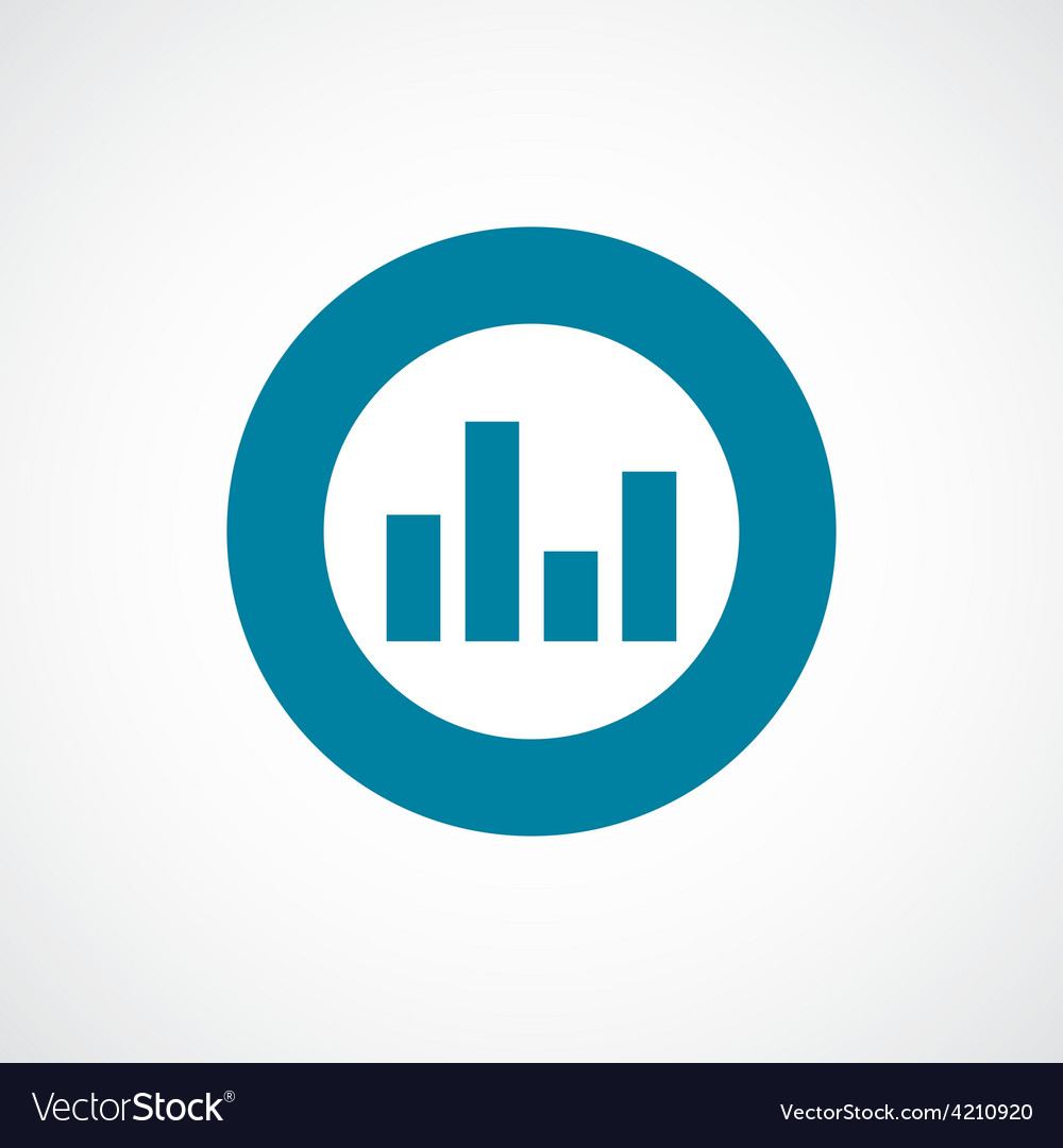 Equalizer icon bold blue circle border vector | Price: 1 Credit (USD $1)