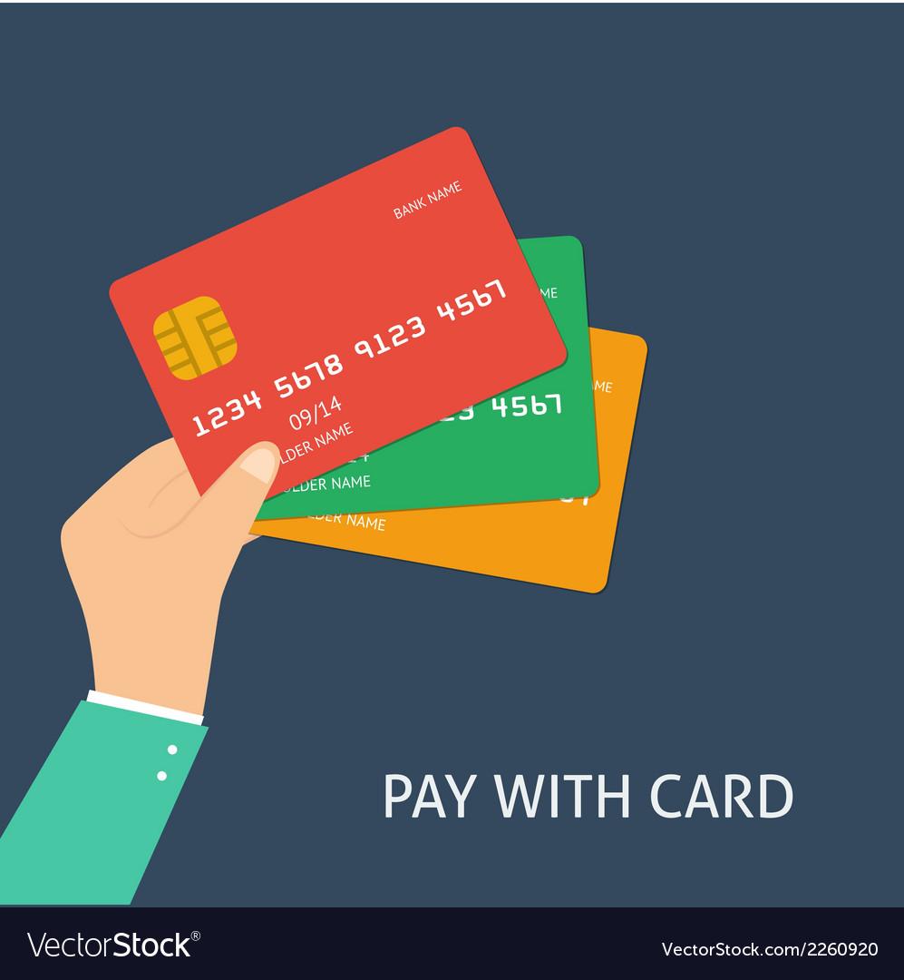 Flat plastic card vector   Price: 1 Credit (USD $1)