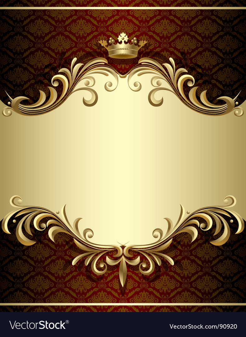 Gold banner vector | Price: 1 Credit (USD $1)