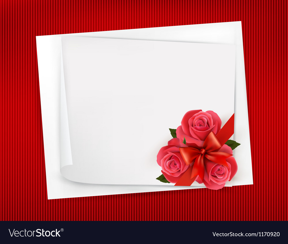 Holiday background with sheet of paper and red vector | Price: 1 Credit (USD $1)