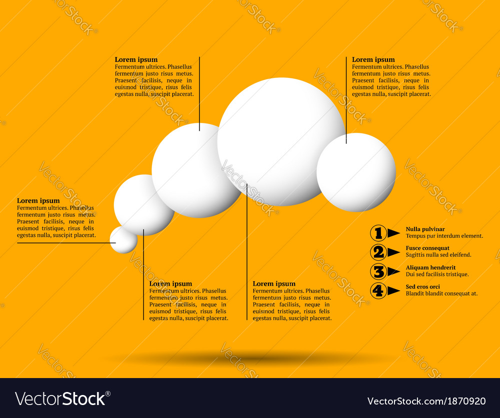 Infographics with group of flying white balls vector | Price: 1 Credit (USD $1)