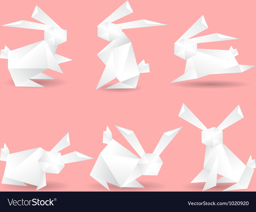 Paper rabbits vector | Price: 1 Credit (USD $1)
