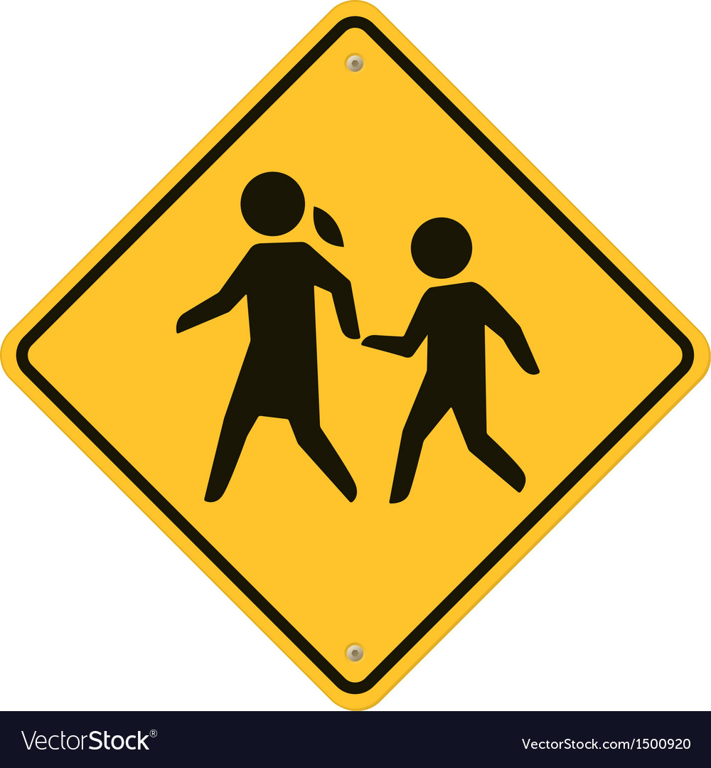 School warning sign vector | Price: 1 Credit (USD $1)