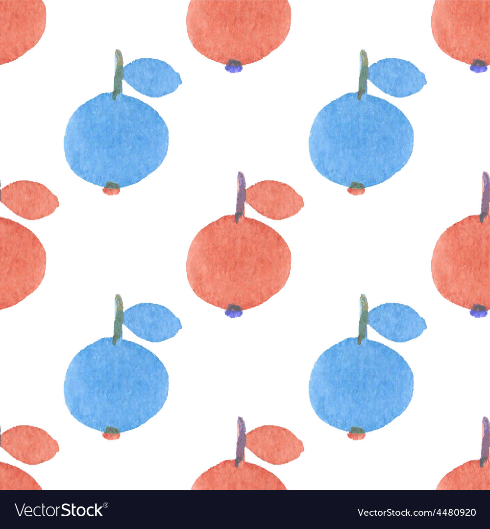 Seamless watercolor pattern with funny red and vector | Price: 1 Credit (USD $1)
