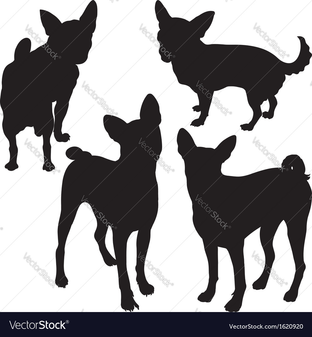 Silhouettes of dogs vector | Price: 1 Credit (USD $1)