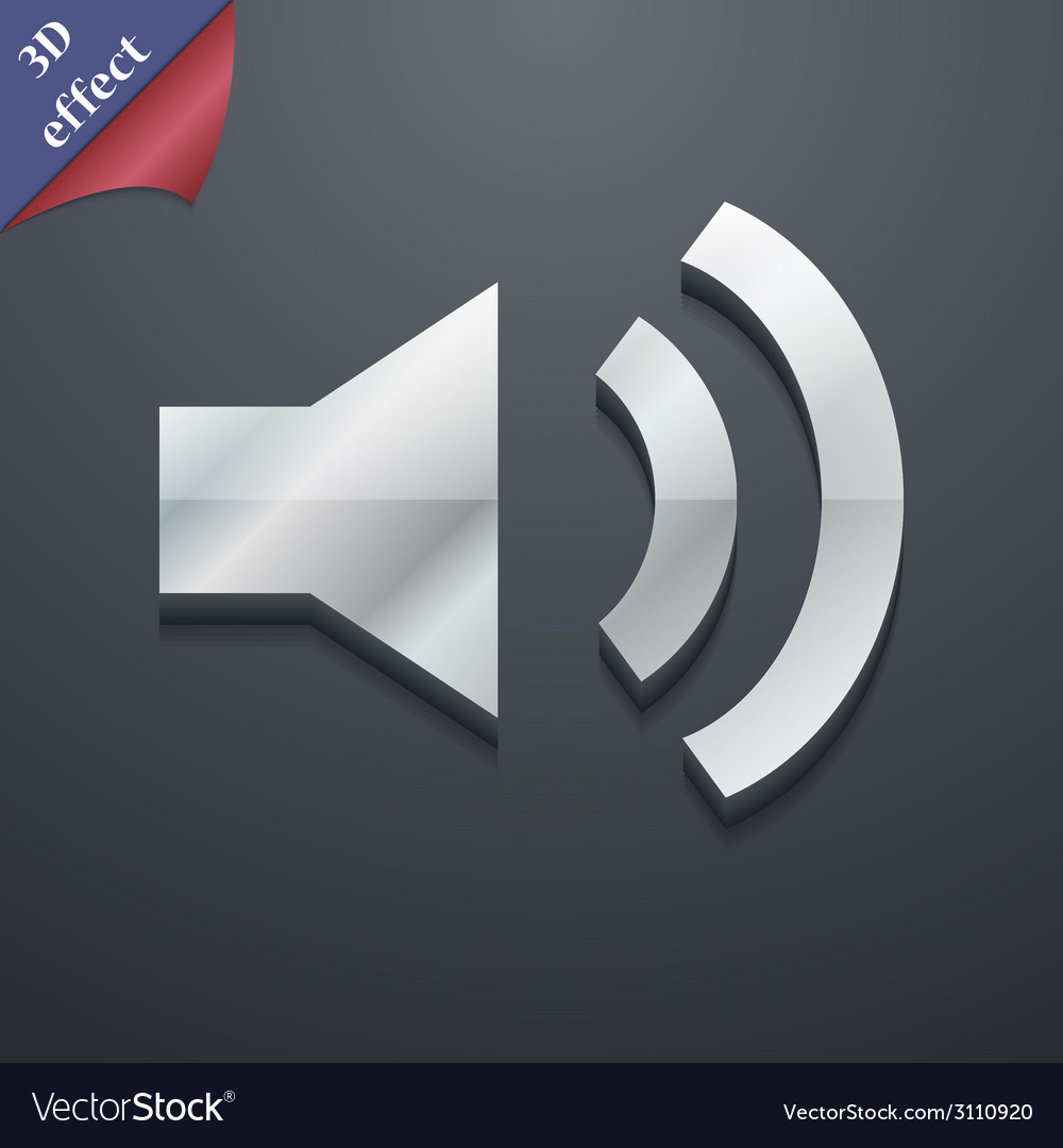Speaker volume icon symbol 3d style trendy modern vector | Price: 1 Credit (USD $1)